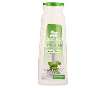 Sanko Body milk enriquecido con aloe vera, para todo tipo de pieles 500 ml