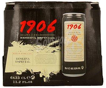1906 Cervezas Pack de 6 latas de 33 centilitros