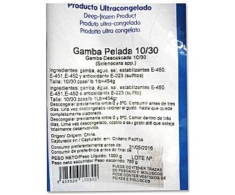 ANTONIO Y RICARDO Gamba pelada congelada 750 Gramos