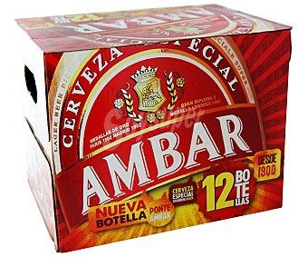 Ambar Cervezas para celiacos Pack de 12 botellines