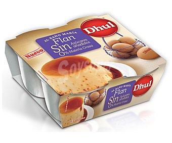Dhul Flan de huevo 0% materia grasa sin azúcares añadidos 4x100g