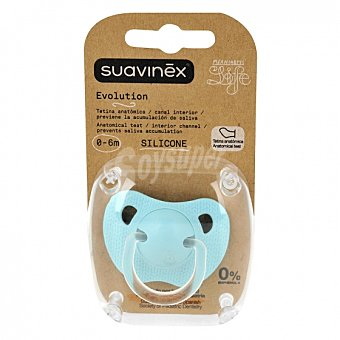 Suavinex Chupete tetina de silicona anatómico 0-6 meses Suavinex 1 ud