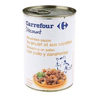 Bocaditos para gatos de pollo 400 gr