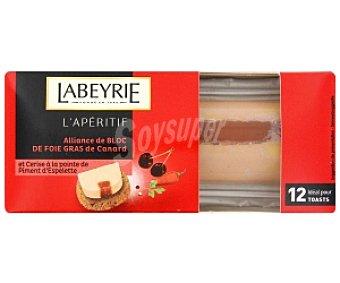 Labeyrie Foie pato cereza/pimienta, especial apertivo 75 Gramos