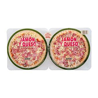 Hacendado Pizza fresca jamon york queso 440 g