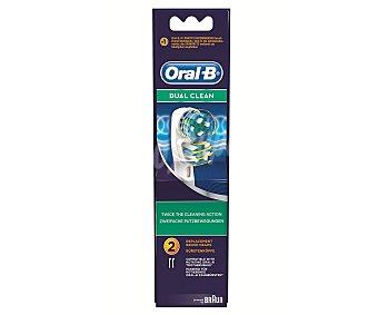 Oral-B Recambio Cepillo Eléctrico Dual Action 2 Unidades