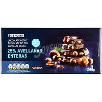 Eroski Chocolate negro-avellanas Tableta 200 g
