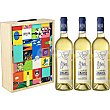 Vino blanco albariño DO Rias Baixas 75 Estuche 3 botellas Abadía de San Campio