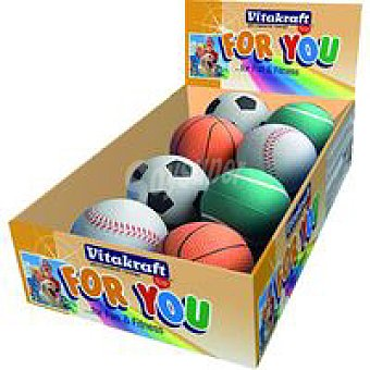 For You Vitakraft Bola de goma surtida perro Pack 1 unid