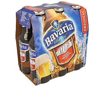 Bavaria Cervezas sin alcohol (0,0% Vol.) Pack de 6 botellas de 25 centilitros