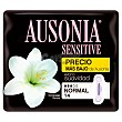 Compresa sensitive normal con alas Paquete 14 uds Ausonia