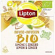 Infusión jengibre y limón bio Caja 20 bolsitas Lipton