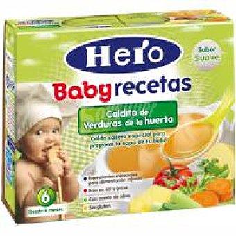 Hero Caldo de cocido con verduras Pack 2x250 ml