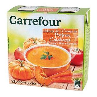 Carrefour Crema de calabaza pack 2x300 ml