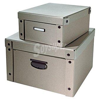 CASACTUAL Recyclable Caja mediana con tapa en color natural  18 l