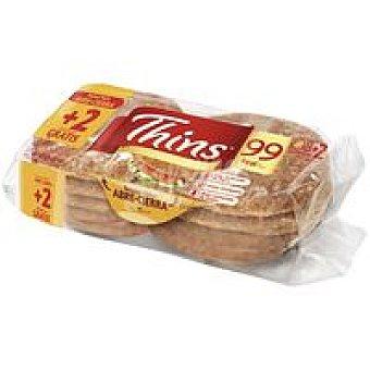 Sándwich Thins Bimbo Sandwich integral 8+2 unid
