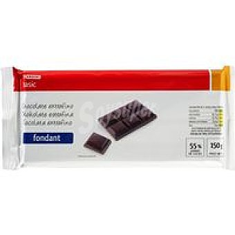 Eroski Basic Chocolate negro fondant Tableta 150 g
