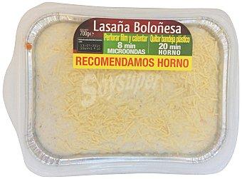 PLATOS TRADICIONALES Comida preparada lasaña boloñesa familiar BANDEJA 700 g