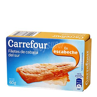 Carrefour Filetes de caballa del Norte en escabeche 90 g