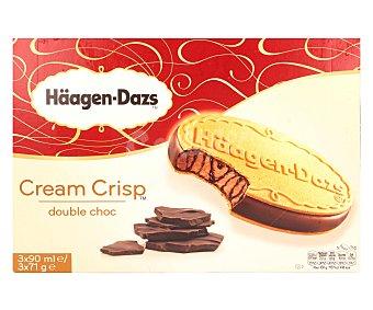 Häagen-Dazs Helado Cream Crisp Double Caramel Caja Pack3x90 ml