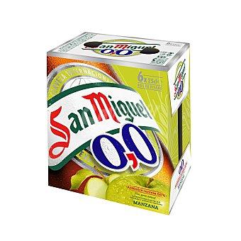 San Miguel Cerveza Sin Alcohol Manzana 0,0 Pack 6 x 25 cl