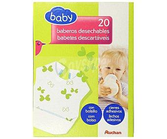 BABY Baberos desechables, con bolsillo y cierres adhesivos 20 uds