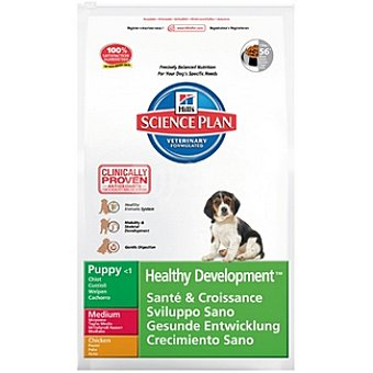 HILL'S SCIENCE PLAN PUPPY Healthy Development Nutrición superior para cachorros con pollo Bolsa 12 kg