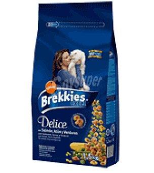 Brekkies Affinity Croquetas con salmón, atún y verduras para gatos Excel Bolsa de 1,5 kg