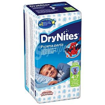 DryNites Pañales noche niño paquete (4-7 kg) 10 unidades