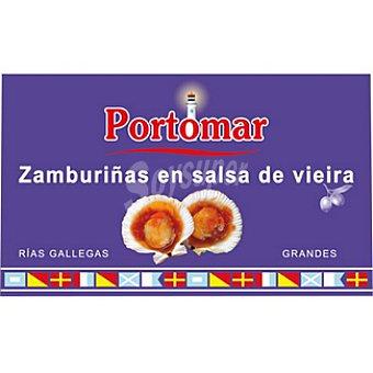 PORTOMAR SERIE NAUTICA Zamburiñas en salsa de vieira de las rias gallegas lata 68 g Lata 68 g