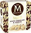 Mini helado de chocolate blanco con trocitos de cookies 6 x 45 g Magnum Frigo