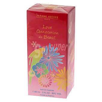 Jeanne Arthes Agua de colonia Love Generation do Brasil 60 ml