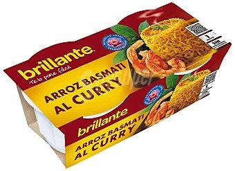 Brillante Arroz al curry cocido para guarnición Pack 2 envases 125 g