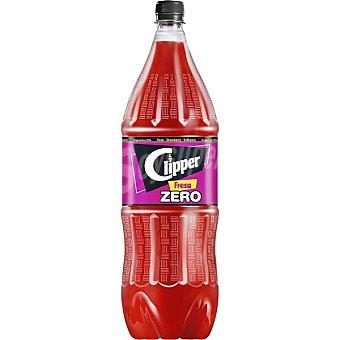 Clipper Zero refresco de fresa botella Botella 2 l