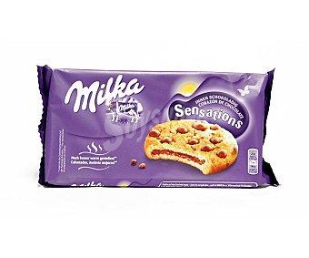 Milka Cookies Sensations con corazón de chocolate Paquete 156 g
