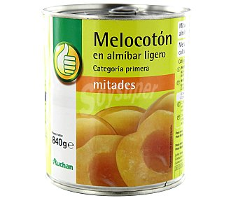 Productos Económicos Alcampo Mitades de melocotón en almíbar 480 gr