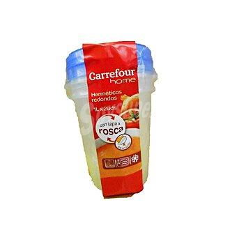 Carrefour Home Bote Redondo de Plástico - Bicolor 1 l 2 ud