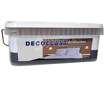 DECOCLASS Pintura Acrílica Decorativa Color Marrón Chocolate, Ambientes 2,5 Litros