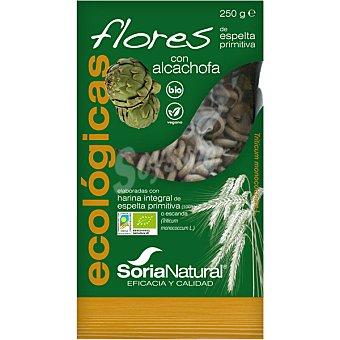 Soria Natural Flores de pasta integral de espelta primitiva con alcachofa ecológicas  envase 250 g