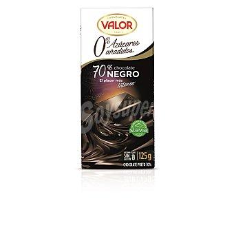 Valor Chocolate negro 70% sin azúcar 125 g
