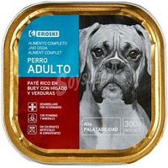 Eroski Paté de buey para perros Lata 300 g