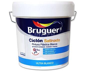 BRUGUER Pintura plástica para interior, de color blanco y con acabado mate, de la serie Ciclón 4 litros