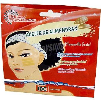 IDC INSTITUTE Mascarilla facial con Aceite de Almendras limpieza profunda hidratación y nutrición Envase 15 ml