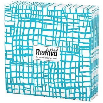 Renova Servilletas Black Label abstracta azul paquete 12 unidades Paquete 12 unidades