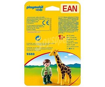 Playmobil Cuidador con jirafa 1.2.3