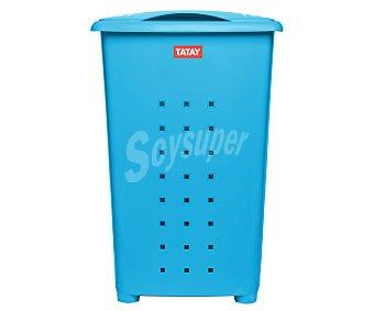 TATAY Millenium Cesto con tapa color azul para ropa, , Millenium tatay 60 litros