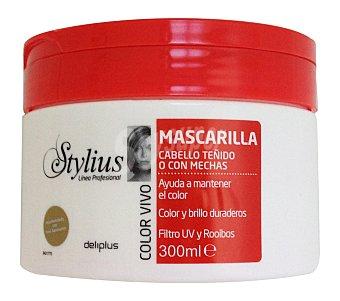 Deliplus Mascarilla cabello color vivo stylius (tapon rojo) Tarro 300 cc