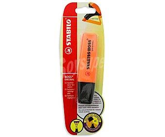 STABILO BOSS Marcador fluorescente, punta biselada con grosor de trazo de 2 a 5 milímetros y tinta con tecnología antisecado naranja 1 unidad
