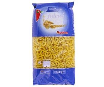 Auchan Fideos huecos (fideuá), pasta de sémola de trigo duro de calidad superior 500g