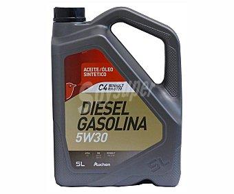 PRODUCTO ALCAMPO Aceite sintético para vehículos con motores de gasolina o diésel 5 litros